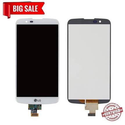 Модуль (дисплей + сенсор) для LG K10 K430, K410, K420N, K430DS, K430DSF, K430DSY, MS білий, фото 2