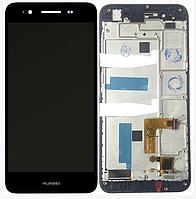 Дисплей Huawei Enjoy 5s/GR3 (TAG-L21/TAG-L01/TAG-L03) + сенсор черный, с передней панелью ( модуль, стекло)