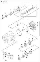2 КОРОБКА ПЕРЕДАЧ | DM 400, 2020-02 бурильная машина Husqvarna | алмазное бурение