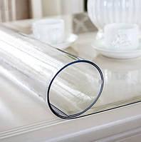 Силиконовое мягкое стекло Прозрачная защитная скатерть для стола и мебели Soft Glass (1.6х1.0м) толщина 2 мм