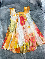 Платье шифоновое на девочку оранжевое ZZ BABY 9695  2