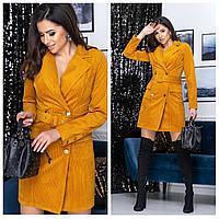 Платье пиджак вельветовое
