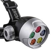 Фонарь на голову 078-5С, 5 LED