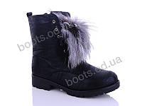 """Ботинки  женские """"Jiulai-Kadisalun"""" #5025-3 мех. р-р 36-41. Цвет черный. Оптом"""