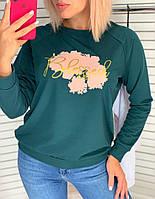 Женский свитшот современного дизайна с широким выбором расцветок 42-48 р-ры
