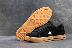 Мужские кеды Converse All Star черные с коричневым 3940