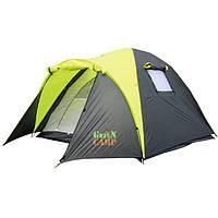Трехместная туристическая палатка на два входа GreenCamp 1011-2