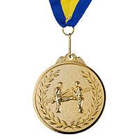 Медаль наградная, d=65 мм, карате. Золота, серебро, бронза