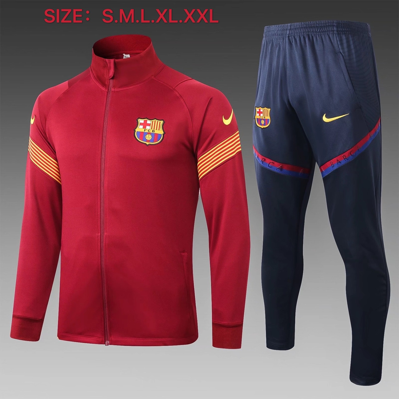 Спортивный тренировочный костюм Барселона Barcelona 2020-21