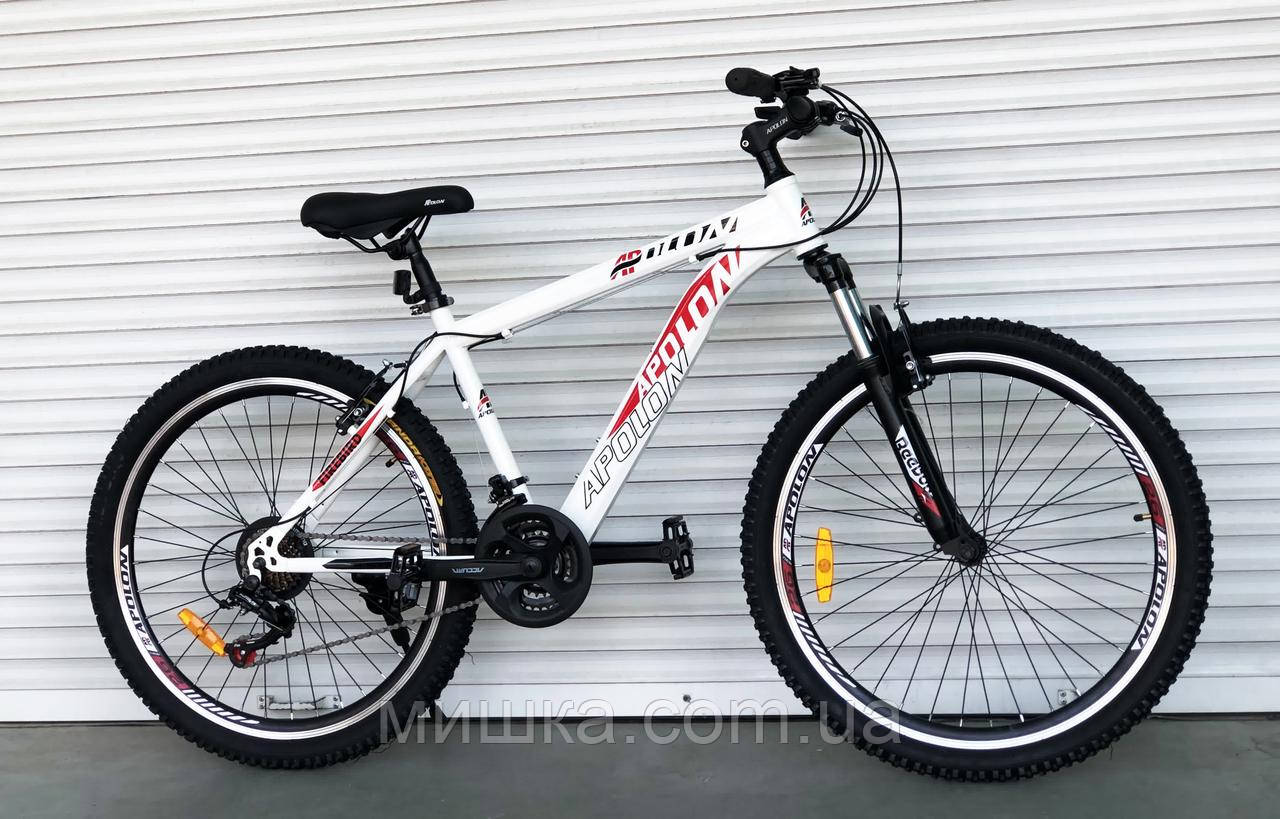 """Велосипед горный TopRider-915 26"""" рама 17"""",  бело-красный"""