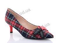 """Туфли женские  женские """"Lino Marano"""" #Y431-5. р-р 35-40. Цвет красный. Оптом"""