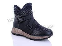 """Ботинки  женские """"Jiao Li Mei"""" #801. р-р 36-41. Цвет черный. Оптом"""