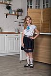 Вышиванка для девочки SmileTime Ethnic, голубой узор, фото 4