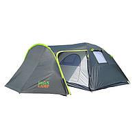 Двухслойная палатка 4-х местная туристическая Green Camp 1009