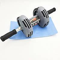 Тренажер - гімнастичний ролик з поверненням Power Stretch Roller. Домашній Тренажер. Тренажер колесо.