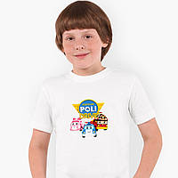 Футболка детская Робокар Поли (Robocar Poli) Белый (9224-1617) , фото 1