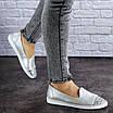 Женские кожаные серебристые туфли Tweety 1783, фото 2