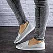 Женские кожаные серебристые туфли Tweety 1783, фото 3