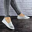 Женские кожаные серебристые туфли Tweety 1783, фото 5