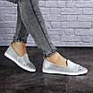 Женские кожаные серебристые туфли Tweety 1783, фото 6