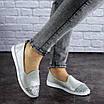Женские кожаные серебристые туфли Tweety 1783, фото 7
