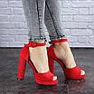 Женские красные босоножки на каблуке Danny 1748, фото 9