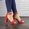 Женские красные босоножки на каблуке Moby 1559, фото 4