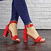 Женские красные босоножки на каблуке Moby 1559, фото 8