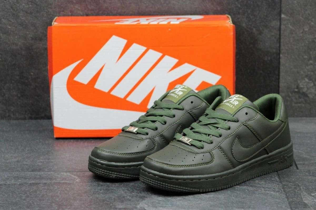 Женские кроссовки Air Force темно зеленые 2723
