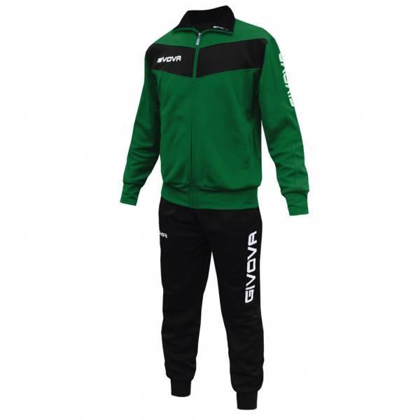 Спортивний костюм Givova Tuta Visa (зелений-чорний) - Оригінал