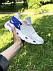 Женские кроссовки бежевые с синим 7958, фото 4