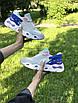Женские кроссовки бежевые с синим 7958, фото 6