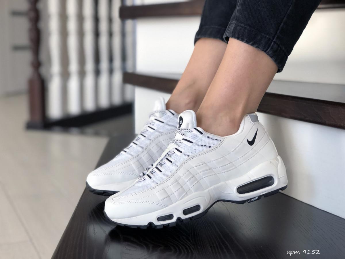 Женские кроссовки белые 9152