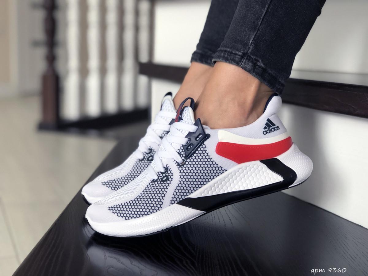 Женские кроссовки белые 9360