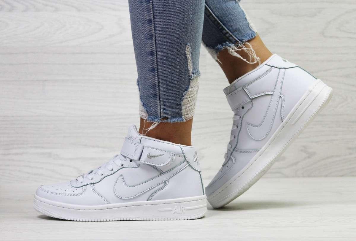 Женские кроссовки белые Air Force 6371