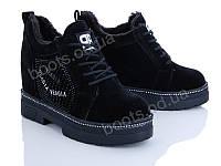 """Ботинки  женские """"Veagia-ADA"""" #P708-1. р-р 36-41. Цвет черный. Оптом"""