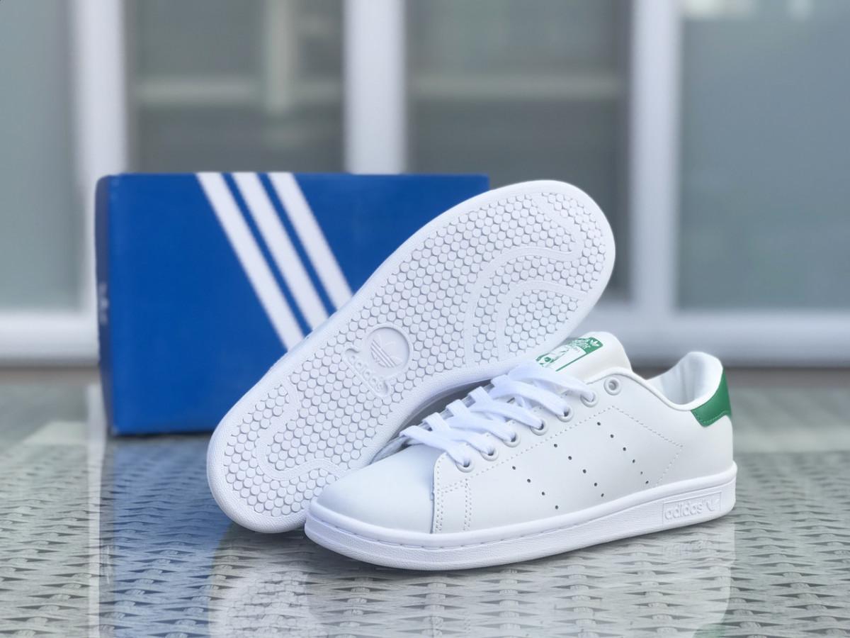 Женские кроссовки белые с зеленым Stan Smith 8321