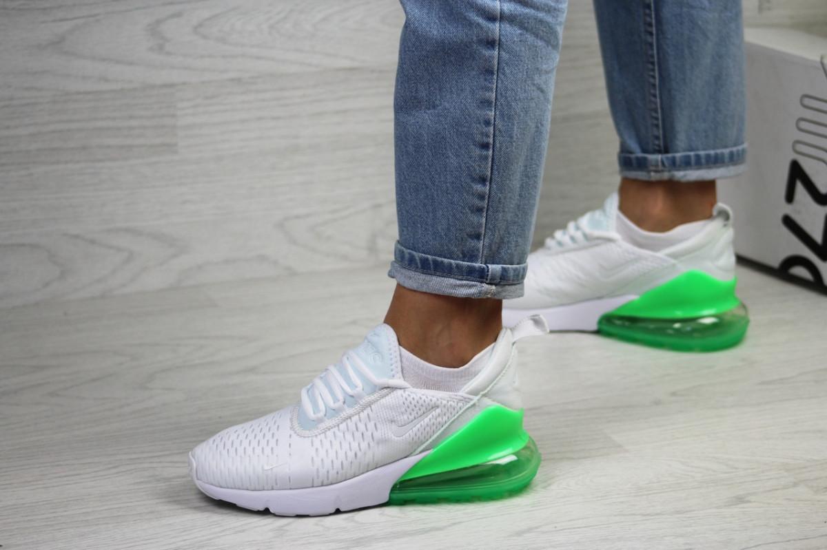 Женские кроссовки белые с салатовым Air Max 270 7815