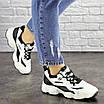 Женские кроссовки белые с черным Jinx 1664, фото 2