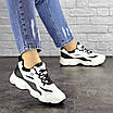 Женские кроссовки белые с черным Jinx 1664, фото 3