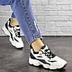 Женские кроссовки белые с черным Jinx 1664, фото 4