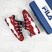 Женские кроссовки красные с белым Heritage Studio Spaghetti 7762, фото 3
