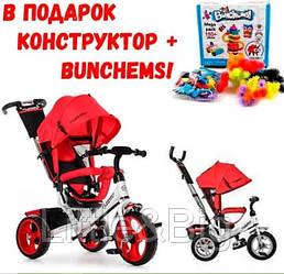 Детский велосипед трехколесный Ева колеса Turbo Trike M 3113-3 красный