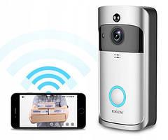 Видео домофон Eken V5 Wi-Fi Smart Doorbell Серый