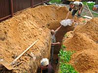 Перемещение грунта, сыпучих стройматериалов, мусора по участку