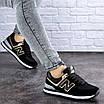 Женские кроссовки летние черные Nix 1990, фото 3
