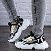 Женские кроссовки летние черные Queno 1993, фото 4