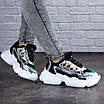 Женские кроссовки летние черные Queno 1993, фото 6