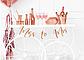 Тарелка Команда Невесты роз золото фольг 6шт, фото 2