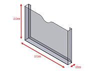 Карман акриловый под формат А4 горизонтальный для полиграфии на скотче, 310*210мм